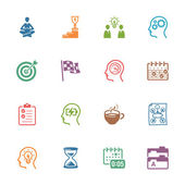 Productive at Work Icons - Colored Series — Stock Vector