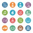 图库矢量图片: School and Education Icons Set 2 - Dot Series