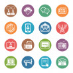 Communication Icons Set 2 - Dot Series — Stock Vector