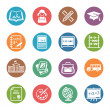 School and Education Icons Set 1 - Dot Series — Векторная иллюстрация