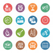 图库矢量图片: School and Education Icons Set 3 - Dot Series