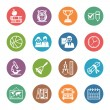School and Education Icons Set 3 - Dot Series — Image vectorielle