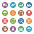 图库矢量图片: Logistics Icons - Dot Series