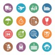 Logistics Icons - Dot Series — Imagen vectorial