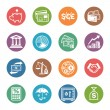 Stock Vector: Finance Icons - Dot Series
