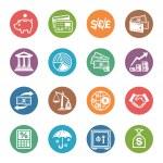 Finance Icons - Dot Series — Stock Vector