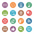 Social Media Icons Set 1 - Dot Series — Vettoriali Stock