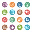 Social Media Icons Set 1 - Dot Series — Image vectorielle