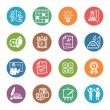 Stock Vector: School and Education Icons Set 4 - Dot Series