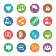 Social Media Icons Set 2 - Dot Series — Imagen vectorial