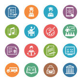 School and Education Icons Set 2 - Dot Series — Stok Vektör