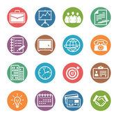 Iconos de oficina y negocios - serie dot — Vector de stock