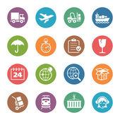 Logistics ikoner - dot serien — Stockvektor