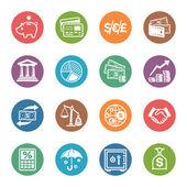 Finanse ikony - seria kropka — Wektor stockowy