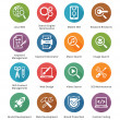 SEO & Internet Marketing Icons Set 1 - Long Shadow Series — стоковый вектор #36797483