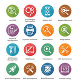 SEO & Internet Marketing Icons Set 1 - Long Shadow Series — Cтоковый вектор