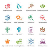 SEO & Internet Marketing Icons Set 4 - Colored Series — Vettoriale Stock