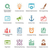 SEO & Internet Marketing Icons Set 5 - Colored Series — Vettoriale Stock