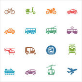 Transportation Icons - Colored Series — Stock Vector