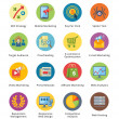 SEO & Internet Marketing Flat Icons Set 3 - Bubble Series — Vecteur #39212955