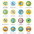 SEO & Internet Marketing Flat Icons Set 1 - Bubble Series — Vetorial Stock #39212957