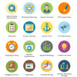 Wektor stockowy : SEO & Internet Marketing Flat Icons Set 5 - Bubble Series