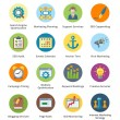 图库矢量图片: SEO & Internet Marketing Flat Icons Set 5 - Bubble Series