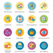 图库矢量图片: SEO & Internet Marketing Flat Icons Set 4 - Bubble Series