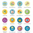SEO & Internet Marketing Flat Icons Set 4 - Bubble Series — Stockvektor #39212961