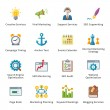 图库矢量图片: SEO & Internet Marketing Flat Icons - Set 5