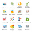 图库矢量图片: SEO & Internet Marketing Flat Icons - Set 3