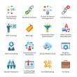 图库矢量图片: SEO & Internet Marketing Flat Icons - Set 2