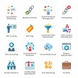 Stok Vektör: SEO & Internet Marketing Flat Icons - Set 2