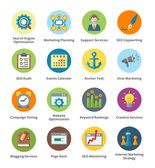 SEO & Internet-marketing-flache Icons set 5 - Blase-Serie — Vector de stock