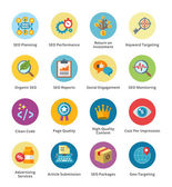 SEO & Internet Marketing Flat Icons Set 4 - Bubble Series — ストックベクタ
