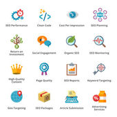 Seo & iconos plana marketing internet - set 4 — Vector de stock