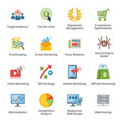 SEO & Internet Marketing Flat Icons - Set 3 — Cтоковый вектор