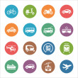 Stock Vector: Transportation Icons - Dot Series