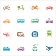 Transportation Icons - Colored Series — Stock Vector #40258487
