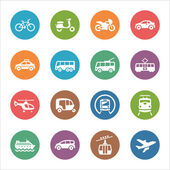 Transportation Icons - Dot Series — Stock Vector