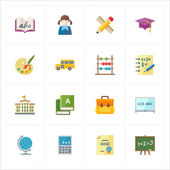 Flat Education Icons - Set 1 — Stock Vector