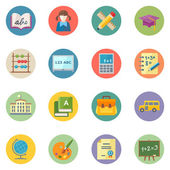 Flat Education Icons Set 1 - Dot Series — Stock Vector