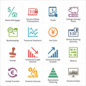 Personal & Business Finance Icons - Set 3 — Vettoriale Stock
