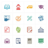 School & Education Icons Set 1 - Colored Series — Stock Vector