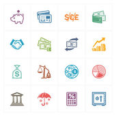 Finance Icons - Colored Series — Stock Vector