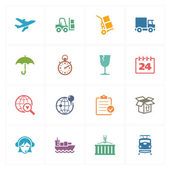 Logistics Icons - Colored Series — Stock Vector