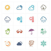 Weather Icons - Colored Series — Stock Vector