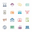 Communication Icons Set 2 - Colored Series — Stock Vector