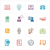 Communication Icons Set 1 - Colored Series — Stok Vektör