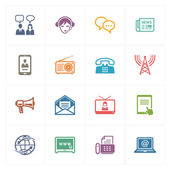 Communication Icons Set 2 - Colored Series — Stok Vektör